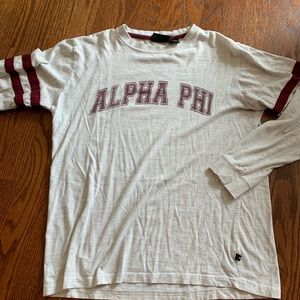 Tops - alpha phi long sleeve tee